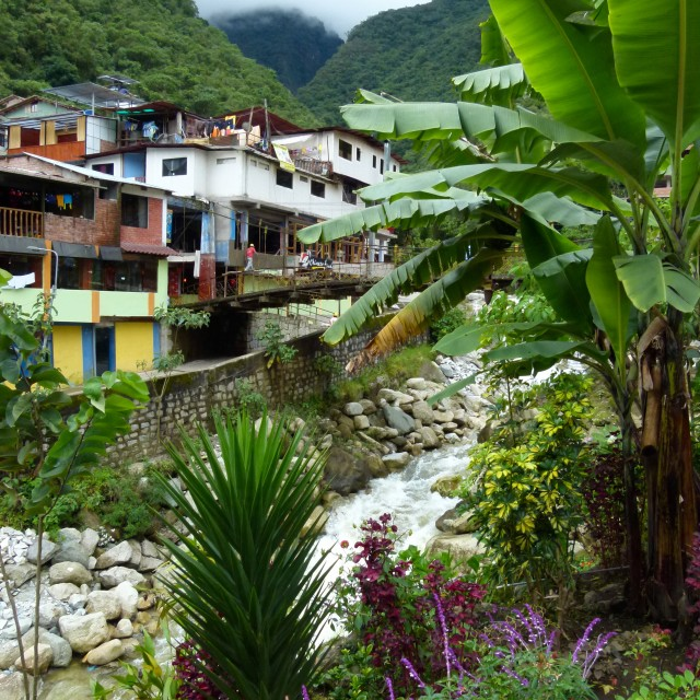 """Peruvian jungle village"" stock image"