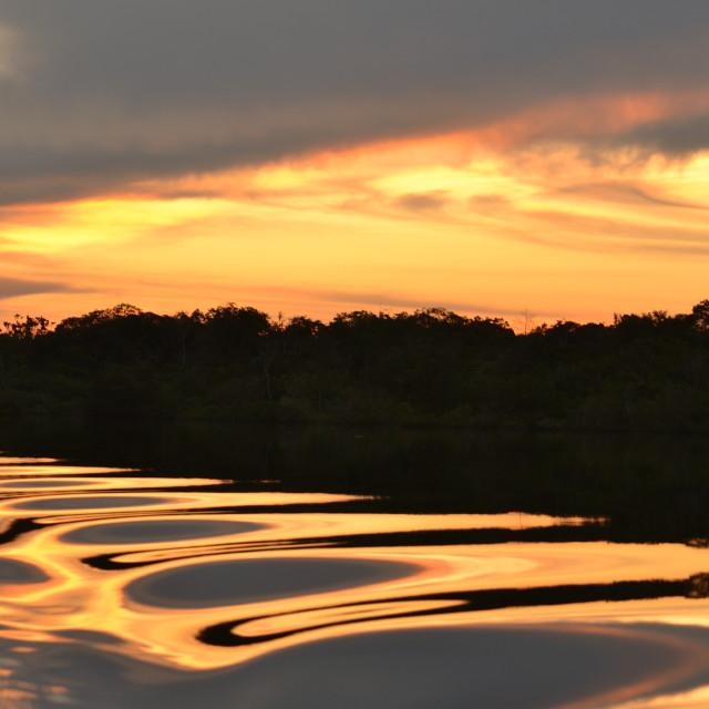 """""""Amazing Amazon Sunset"""" stock image"""