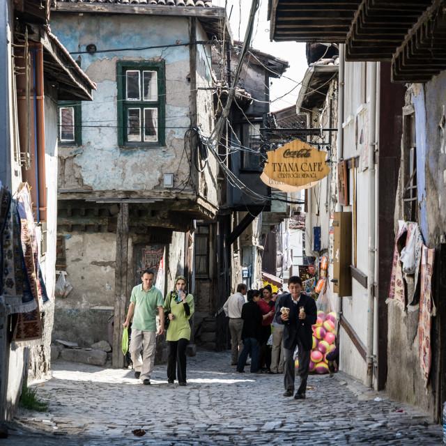 """Citadel street, Ankara"" stock image"