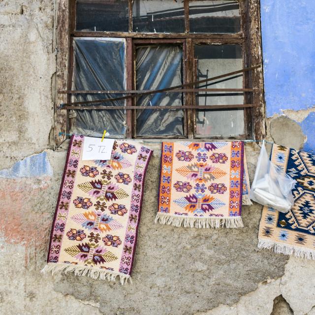 """Citadel rugs, Ankara"" stock image"