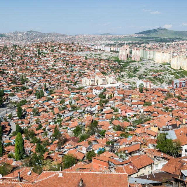 """""""Ankara from the Citadel"""" stock image"""