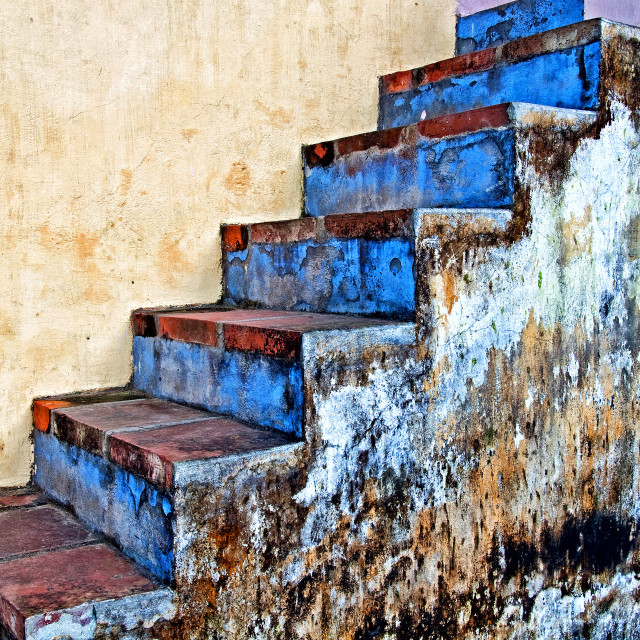 """BLUE STAIRS"" stock image"