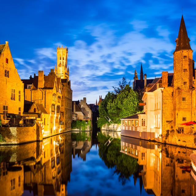 """""""Rozenhoedkaai, Bruges in Belgium"""" stock image"""