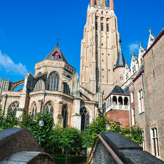 """Vrouwekerk, Church of Our Lady, Bruges"" stock image"