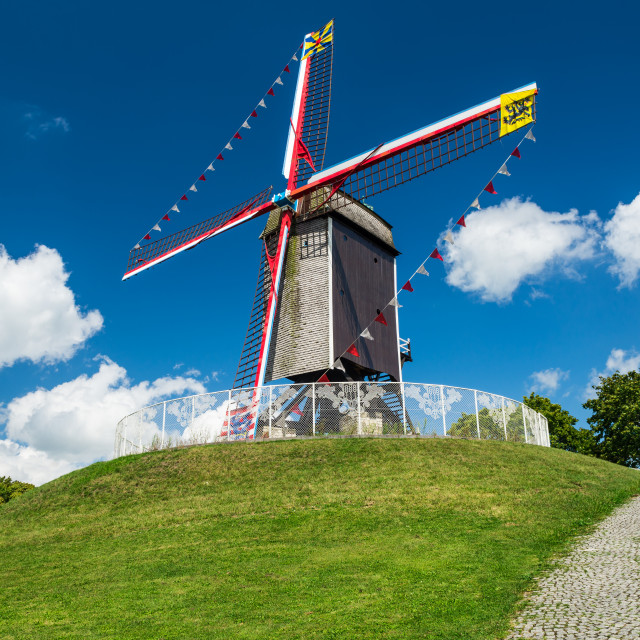 """Sint-Janshuis Mill, Bruges"" stock image"