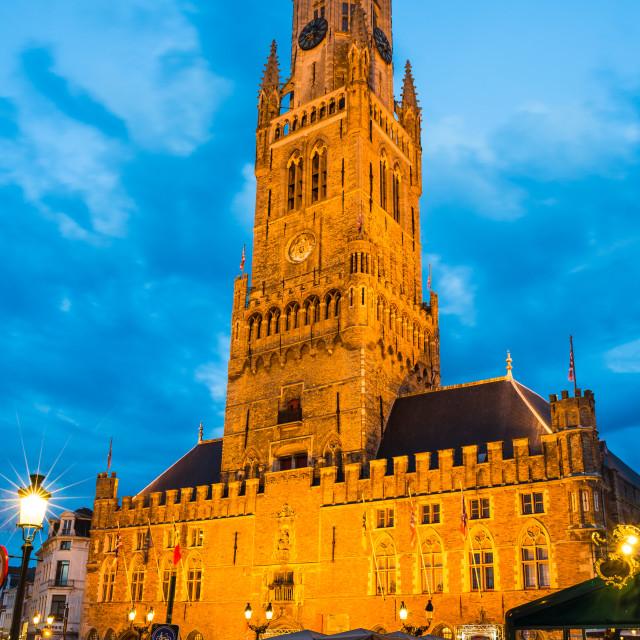 """""""Belfort tower, Bruges, Belgium"""" stock image"""