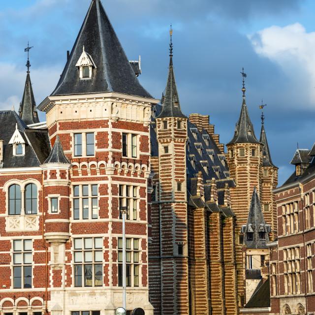 """""""Vleeshuis in Antwerp, Belgium"""" stock image"""