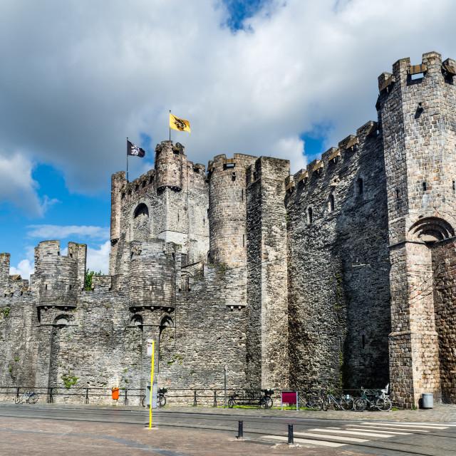 """""""Gravensteen Castle, Gent"""" stock image"""