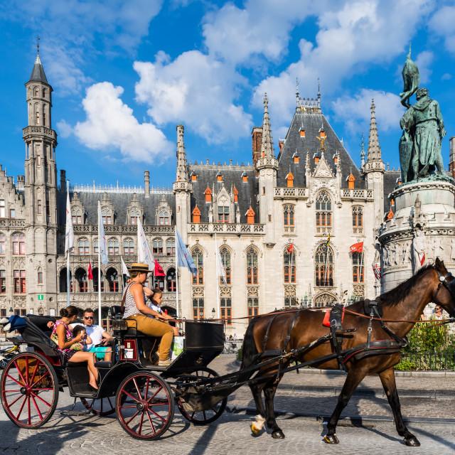 """""""Bruges, Provinciaal Hof, Belgium"""" stock image"""