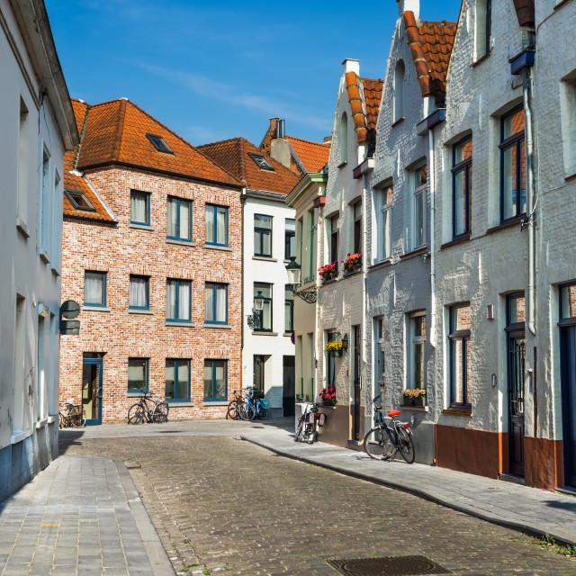 """Bruges, Flanders, Belgium"" stock image"
