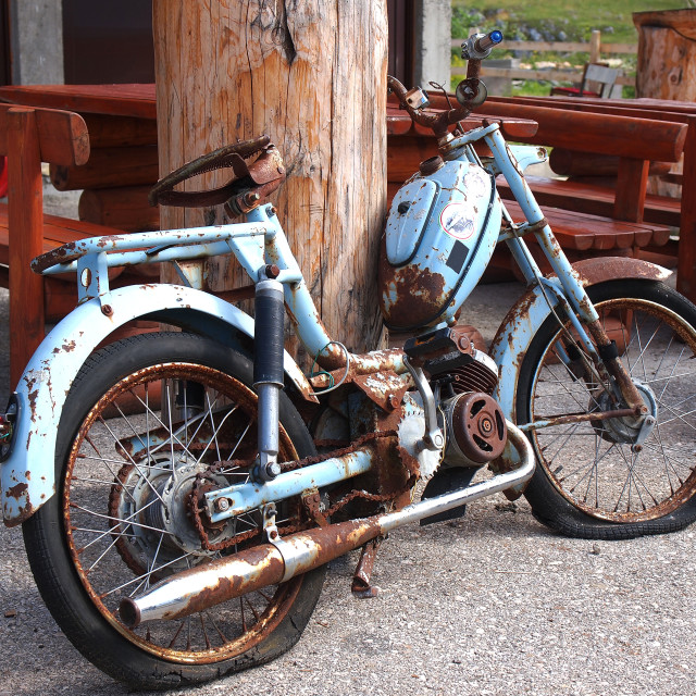 """old motorbike"" stock image"