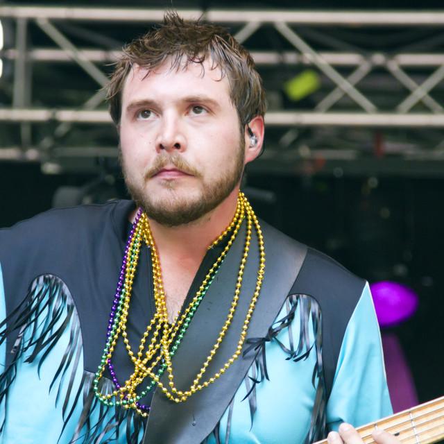 """Buck Wilson, bass guitarist"" stock image"