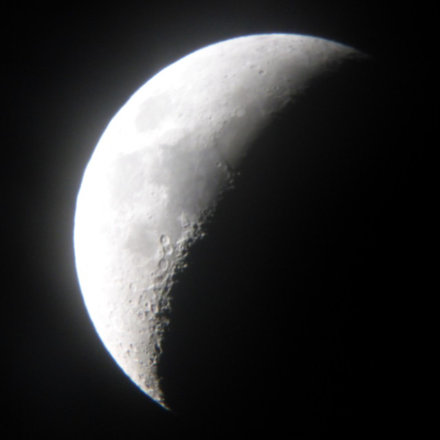 """Moon through telescope"" stock image"