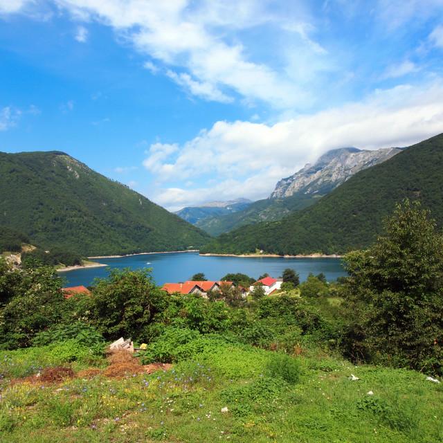 """""""mpuntain lake"""" stock image"""