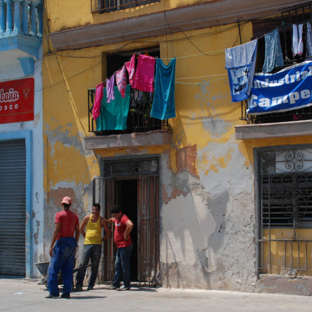 """Colourful Cuban building"" stock image"