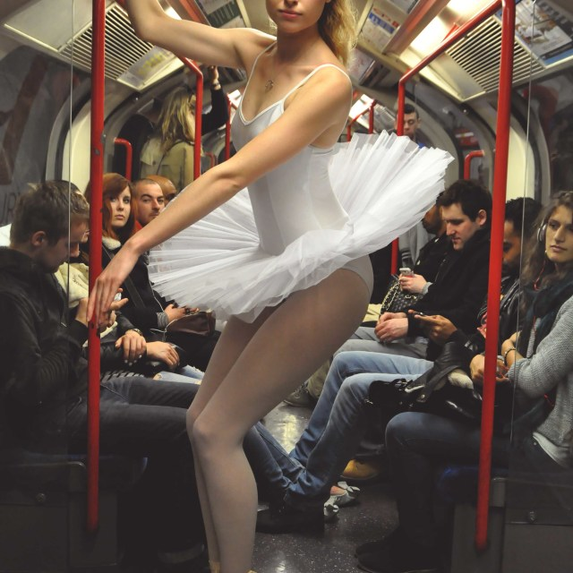 """10. Street Ballerina - Central Line, London Underground"" stock image"