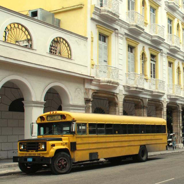 """Classic School Bus, Havana"" stock image"