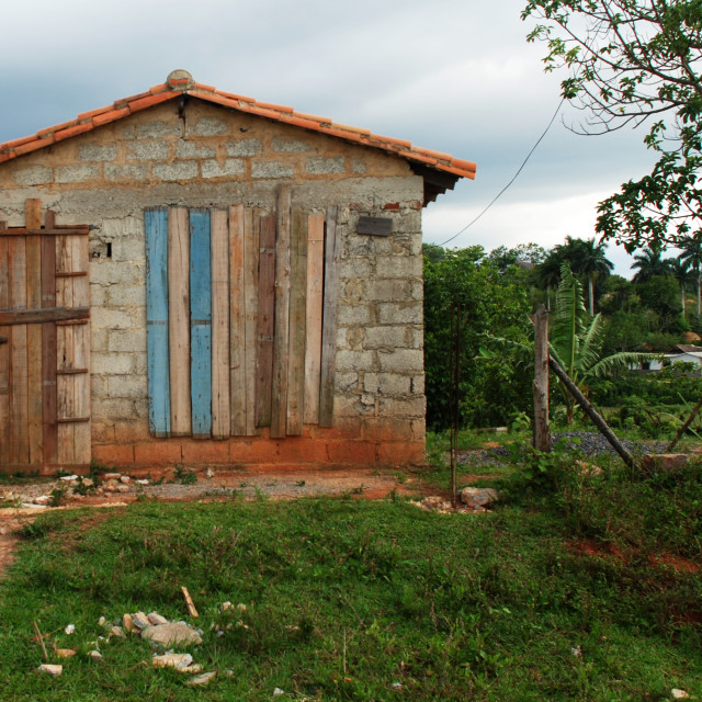"""""""Cuban Allotment Shed"""" stock image"""
