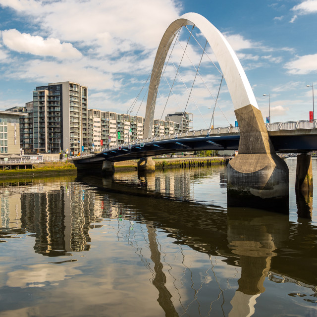 """Clyde Arc, Glasgow"" stock image"