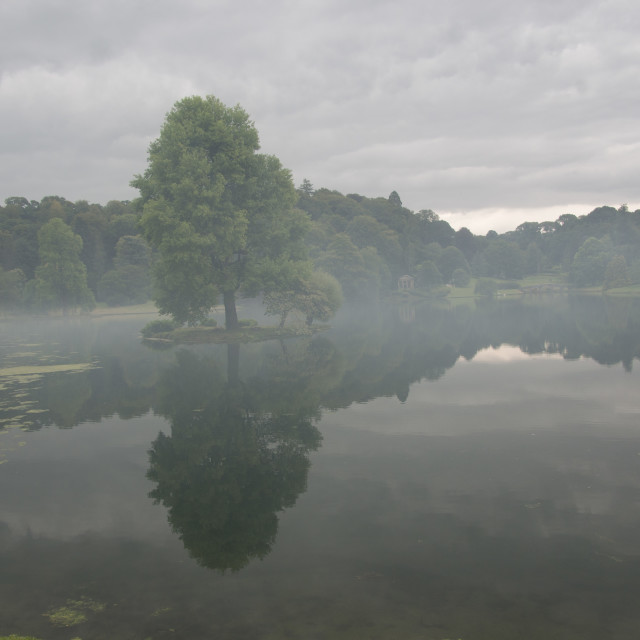 """Stourhead Lake"" stock image"