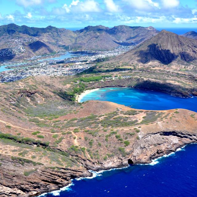 """Honolulu view"" stock image"