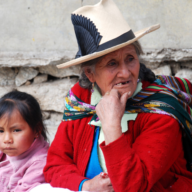 """Peruvian Woman"" stock image"