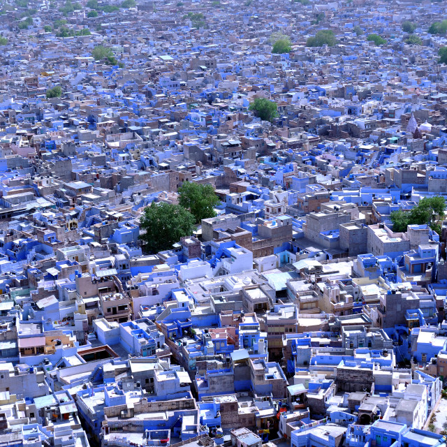 """""""Blue town"""" stock image"""