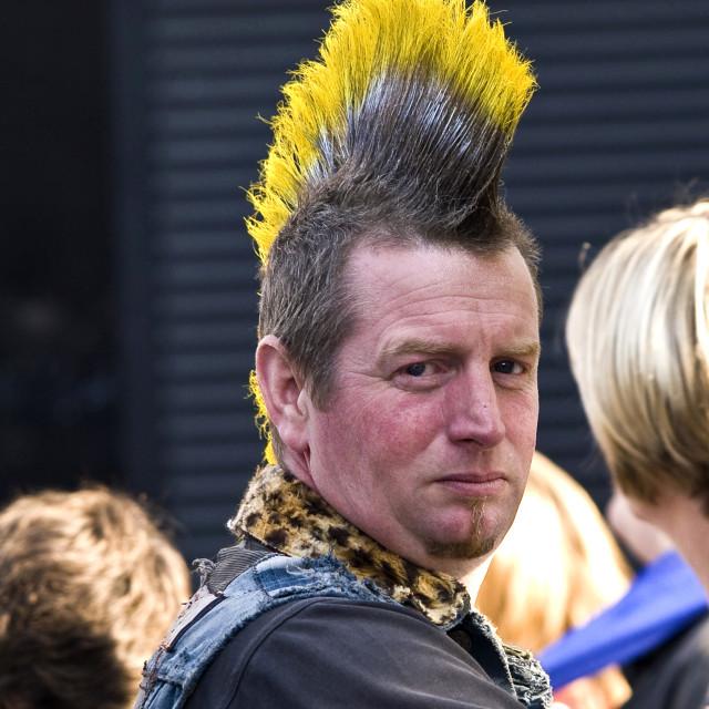 """Punk haircut"" stock image"