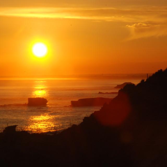 """Sunset, Phillip Island, Australia"" stock image"