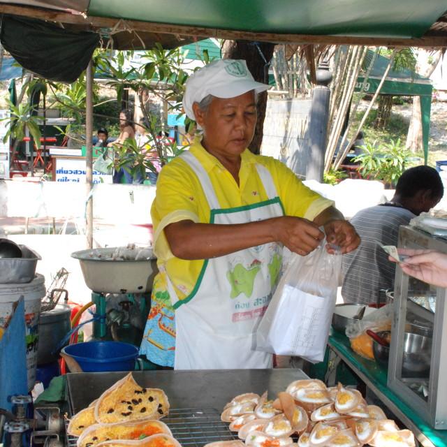 """Street food, Bangkok"" stock image"