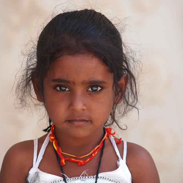"""Nepali girl"" stock image"