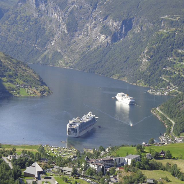 """Geiranger Fjord"" stock image"