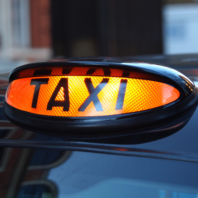 """taxi sign"" stock image"