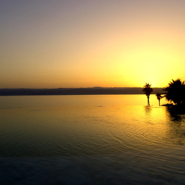 """Dead Sea Sunset"" stock image"