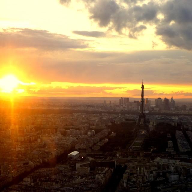 """Paris Sunset"" stock image"