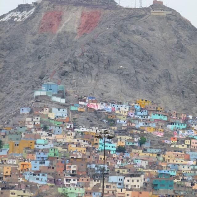"""""""Hillside houses, Lima"""" stock image"""
