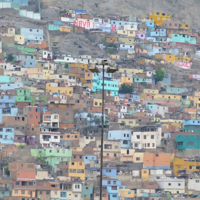 """""""Houses on hill, Lima"""" stock image"""