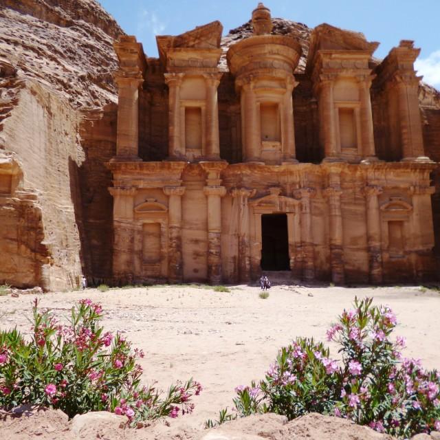 """""""Monastery, Petra"""" stock image"""