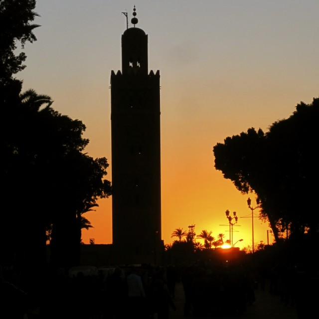 """Koutabia Mosque at sunset"" stock image"