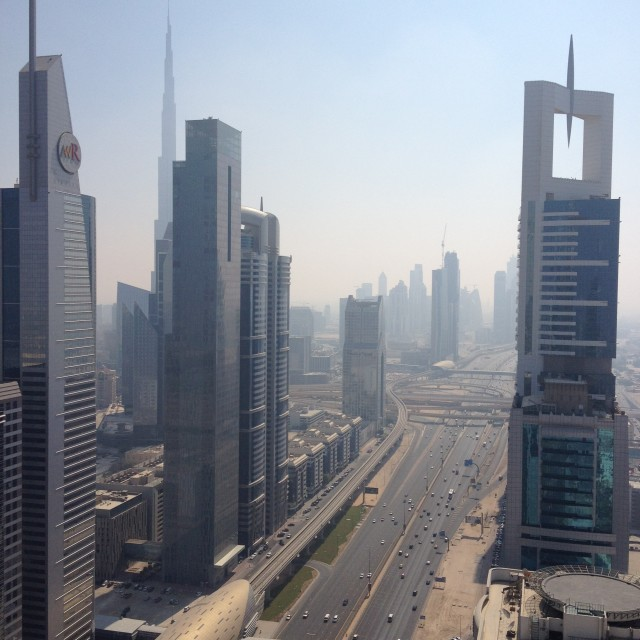 """Sheikh Zayed Road, Dubai"" stock image"