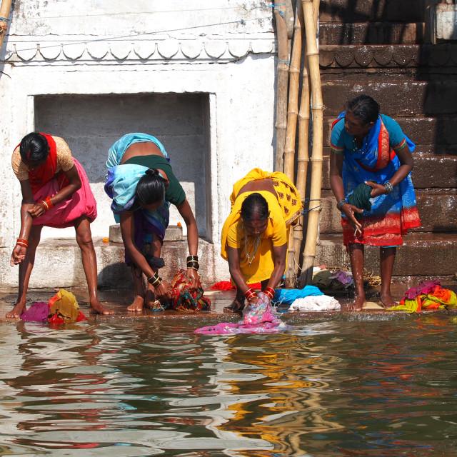 """""""Ganges river"""" stock image"""
