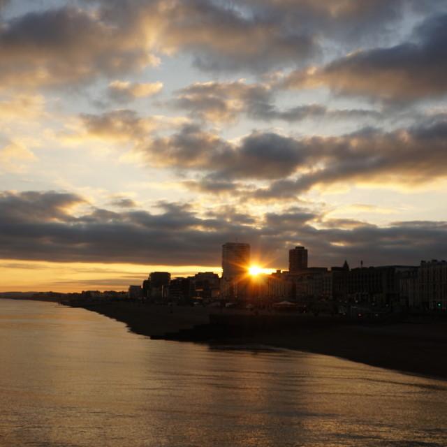 """Brighton sunset"" stock image"