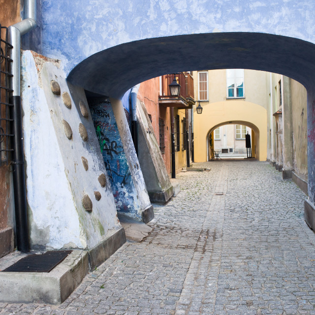"""""""Old Town in Warsaw"""" stock image"""