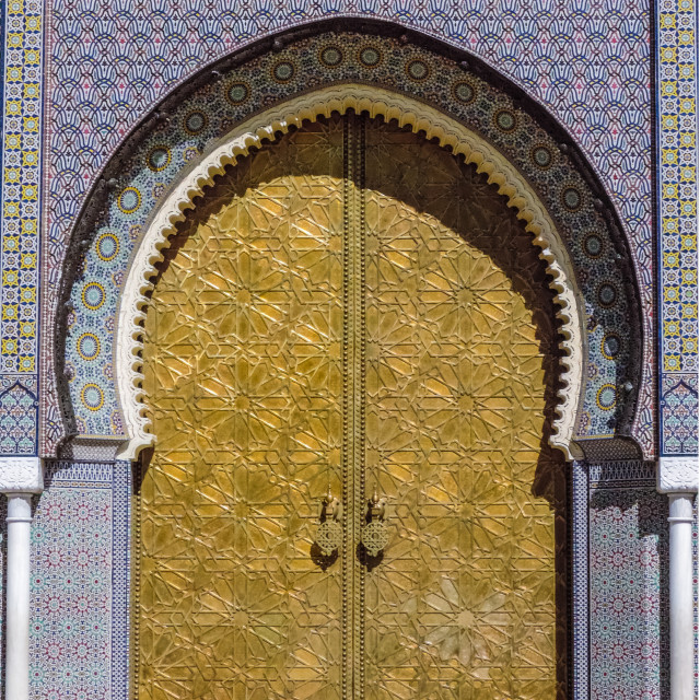 """Palace Door"" stock image"