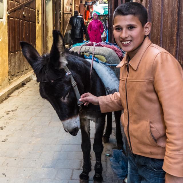 """Boy in Fez"" stock image"