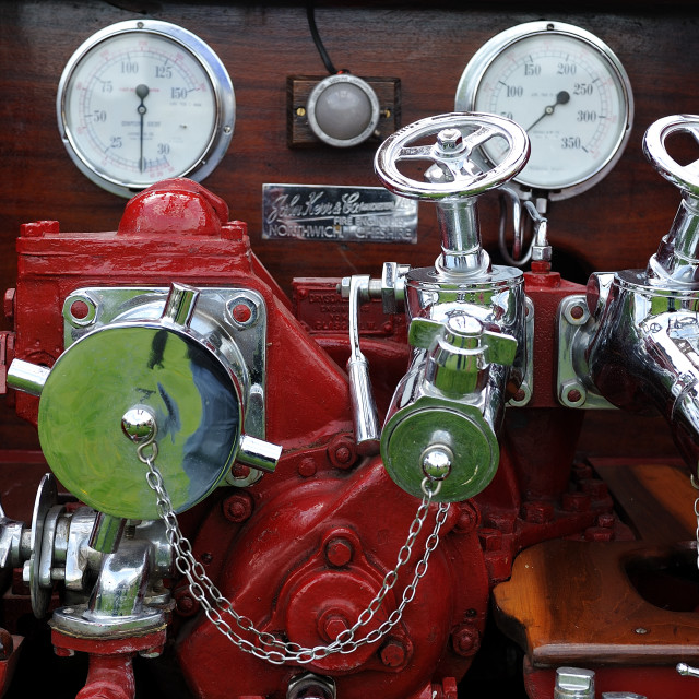 """Vintage fire engine Cheshire"" stock image"