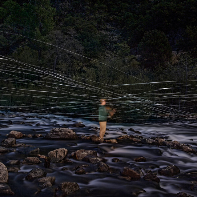 """Fly FIshing Blur"" stock image"