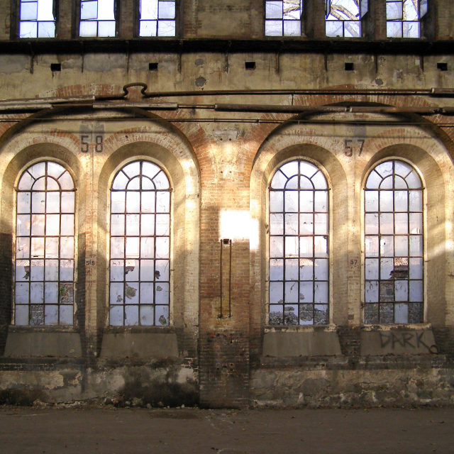 """Abandoned factory"" stock image"