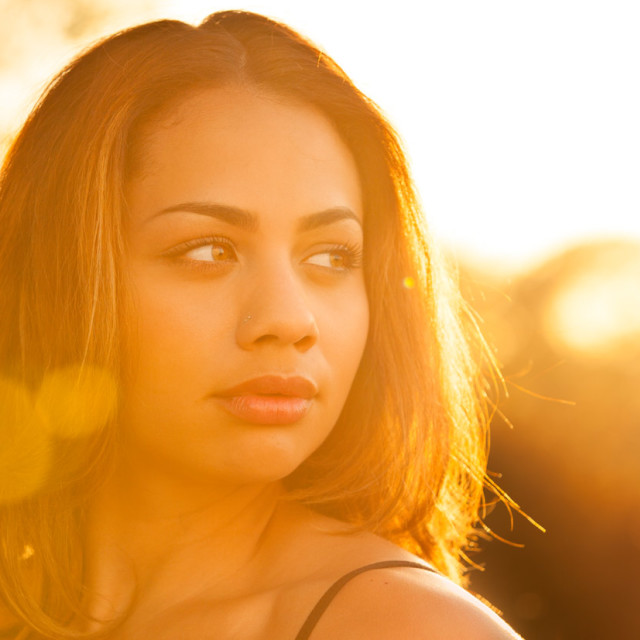 """Backlit Summer Portrait"" stock image"