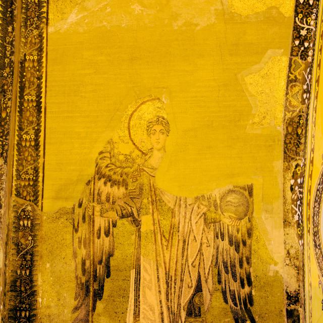 """Guardian Angel Byzantine Art"" stock image"
